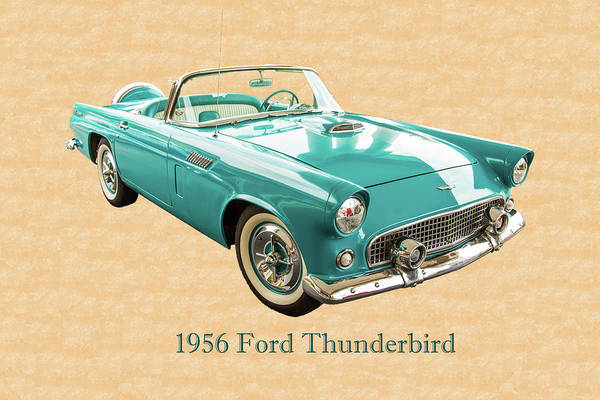 Photograph - 1956 Ford Thunderbird 5510.03 by M K Miller