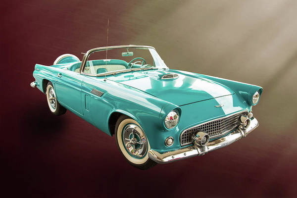 Photograph - 1956 Ford Thunderbird 5510.05 by M K Miller