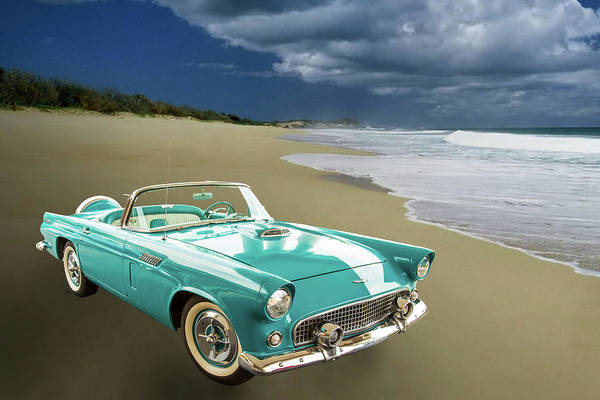 Photograph - 1956 Ford Thunderbird 5510.06 by M K Miller