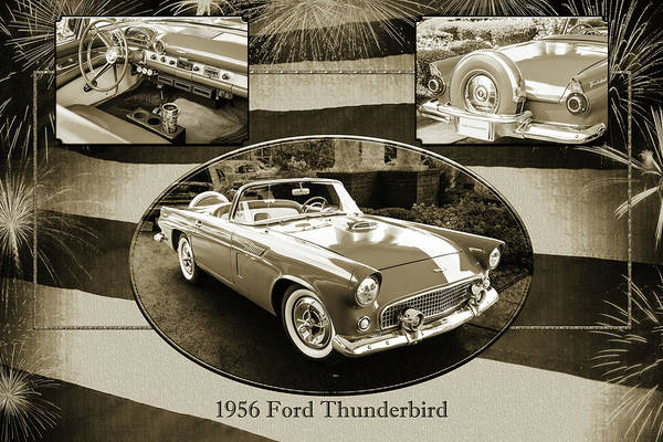 Photograph - 1956 Ford Thunderbird 5510.51 by M K Miller
