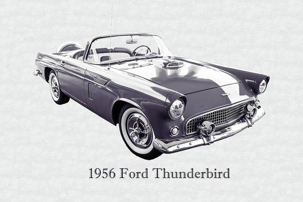 Photograph - 1956 Ford Thunderbird 5510.52 by M K Miller