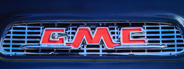 Photograph - 1956 Gmc Suburban Pickup Grille Emblem -0194c2 by Jill Reger