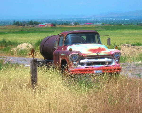 Photograph - 1956 Heavy Chevy Truck In Cache Valley by David King