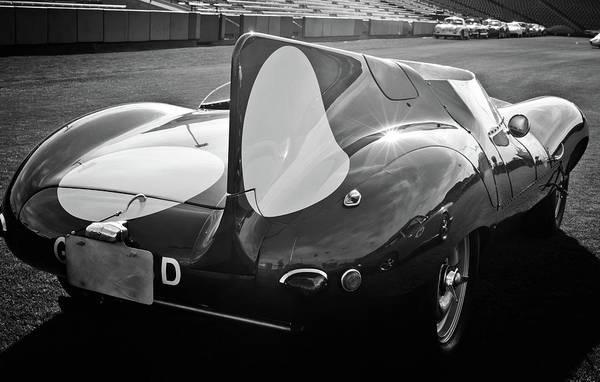 Photograph - 1956 Jaguar D-type -0256bw by Jill Reger