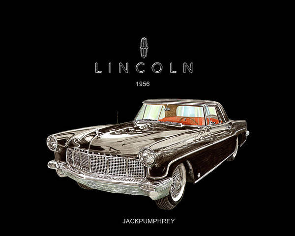 Wall Art - Painting - 1956 Lincoln Continental M K I I  by Jack Pumphrey