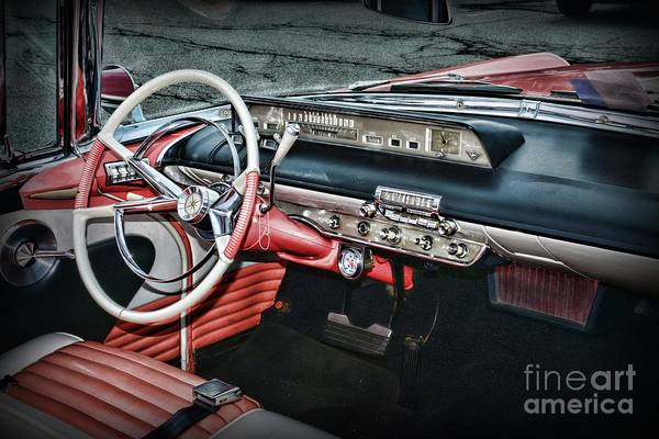Wall Art - Photograph - 1956 Lincoln Continental Premiere Cockpit by Paul Ward