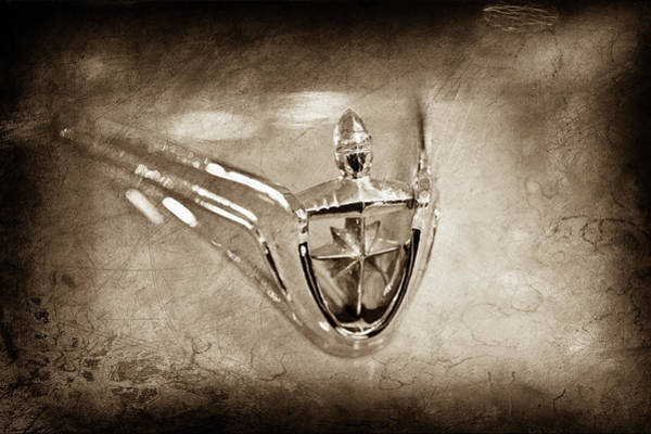 Wall Art - Photograph - 1956 Lincoln Premier Convertible Hood Ornament -0832s by Jill Reger