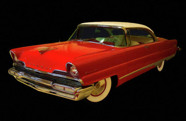 Painting - 1956 Lincoln Premier Digital Oil by Chris Flees