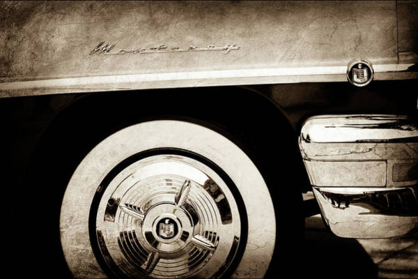 Photograph - 1956 Mercury Monterey 2-door Hardtop Wheel Emblems -0898s by Jill Reger
