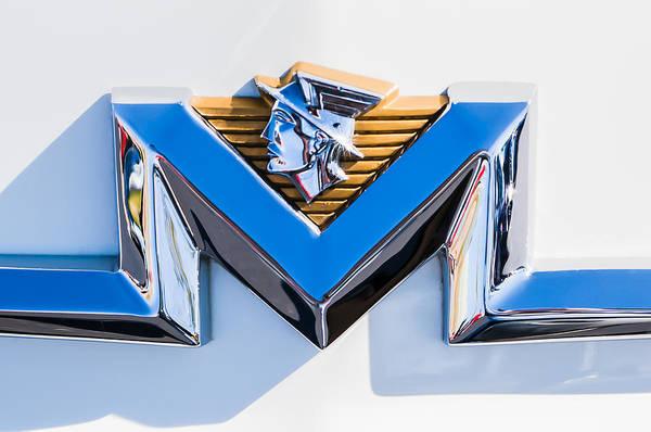 Photograph - 1956 Mercury Monterey Emblem -149c by Jill Reger