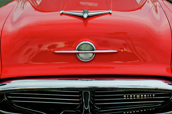 Photograph - 1956 Oldsmobile Hood Ornament 4 by Jill Reger