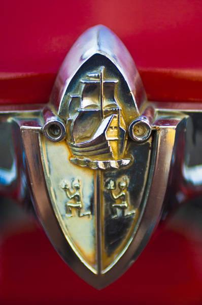 Photograph - 1956 Plymouth Belvedere Emblem 2 by Jill Reger