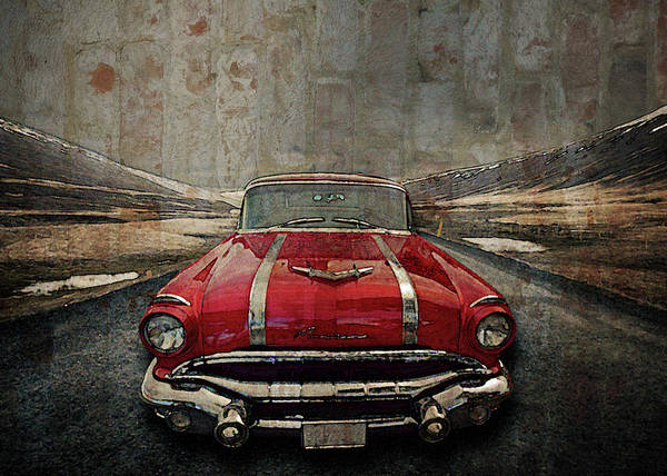Digital Art - 1956 Pontiac Strato-streak by Richard Farrington