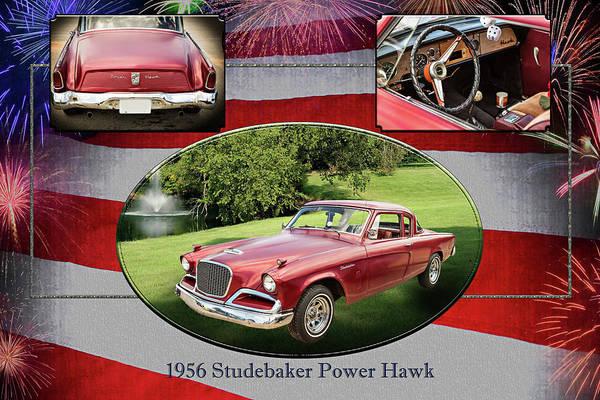 Photograph - 1956 Studebaker Power Hawk 5543.01 by M K Miller