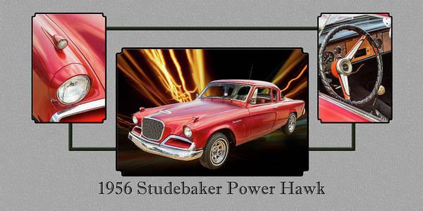 Photograph - 1956 Studebaker Power Hawk 5543.02 by M K Miller