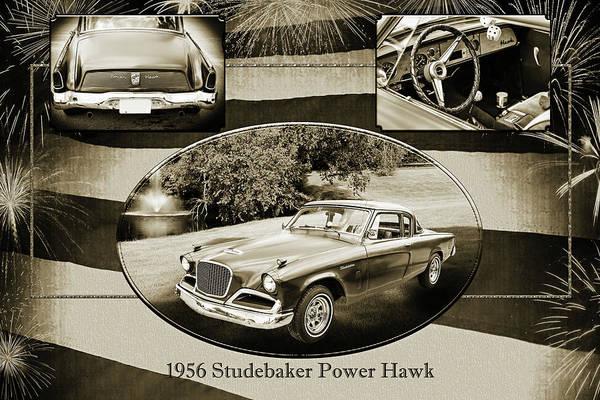 Photograph - 1956 Studebaker Power Hawk 5543.50 by M K Miller