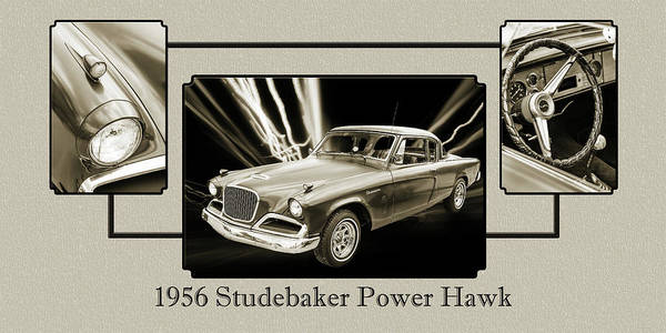 Photograph - 1956 Studebaker Power Hawk 5543.51 by M K Miller