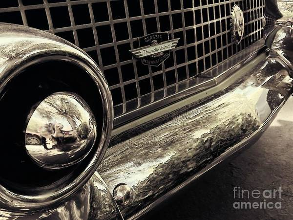 Photograph - 1956 T-bird Grill by Jenny Revitz Soper
