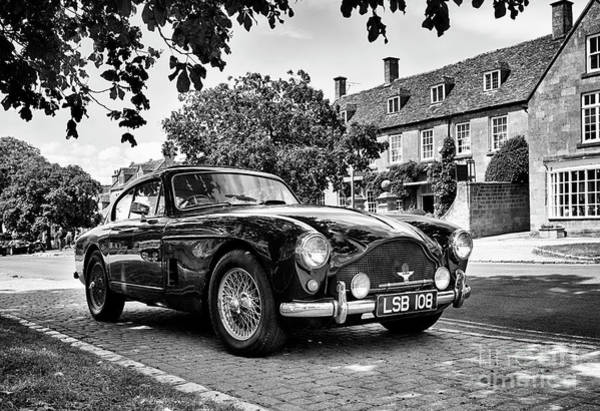 Photograph - 1957 Aston Martin Db Mkiii Monochrome by Tim Gainey