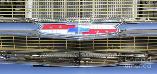 Photograph - 1957 Belair Grille 1 by Jennifer Robin