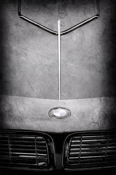 Wall Art - Photograph - 1957 Bmw 507 Series II Roadster Hood Emblem-2456ac by Jill Reger