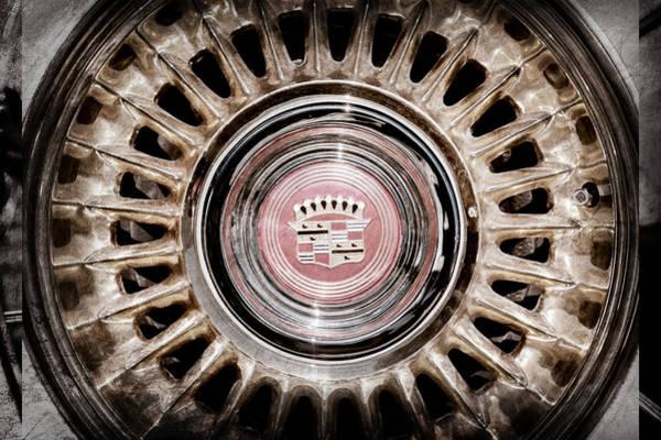 Eldorado Photograph - 1957 Cadillac Eldorado Biarritz Convertible Wheel Emblem -1224ac by Jill Reger