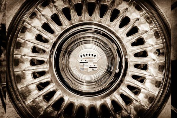 Eldorado Photograph - 1957 Cadillac Eldorado Biarritz Convertible Wheel Emblem -1224s by Jill Reger