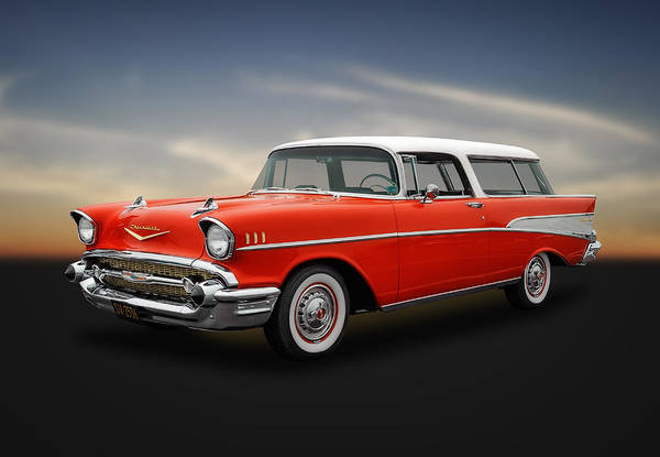 Street Rods Photograph - 1957 Chevrolet Bel Air Nomad Wagon by Frank J Benz