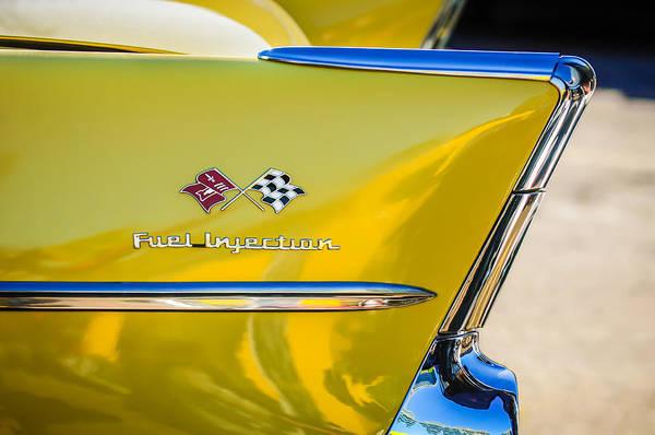 Photograph - 1957 Chevrolet Belair Fuel Injection Emblem -157c1 by Jill Reger