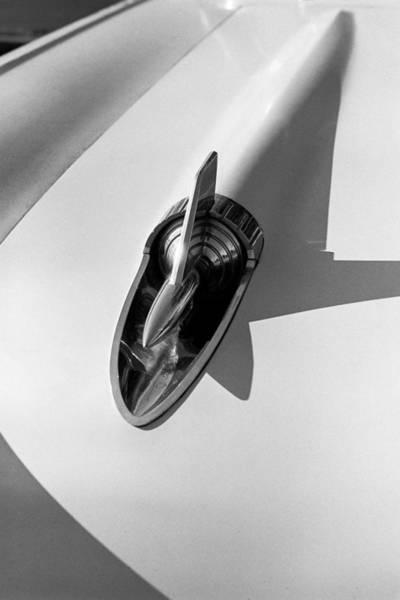 1957 Chevrolet Photograph - 1957 Chevy Bel Air Hood Rocket by Jon Woodhams