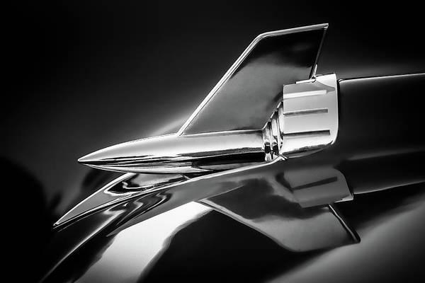 1957 Chevrolet Photograph - 1957 Chevy Bel Air Hood Rocket - Monochrome by Jon Woodhams
