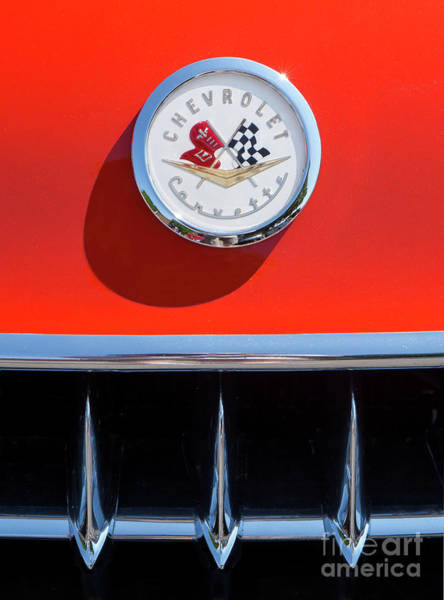 Photograph - 1957 Chevy Corvette Emblem by Kevin McCarthy