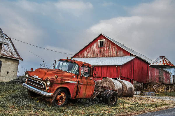 Photograph - 1957 Chevy Farm Truck by Bill Cannon