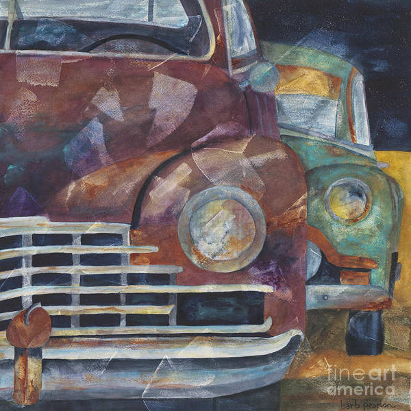 Cadillac Wall Art - Painting - 1957 Classics by Barb Pearson