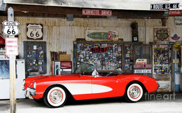 Wall Art - Photograph - 1957 Corvette Hackberry Arizona by Bob Christopher
