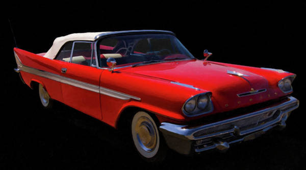 Photograph - 1957 Desoto Fireflight Convertible Digital Oil by Chris Flees