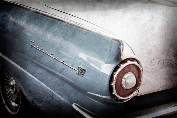 Photograph - 1957 Ford Fairlane Taillight Emblem -0068ac by Jill Reger
