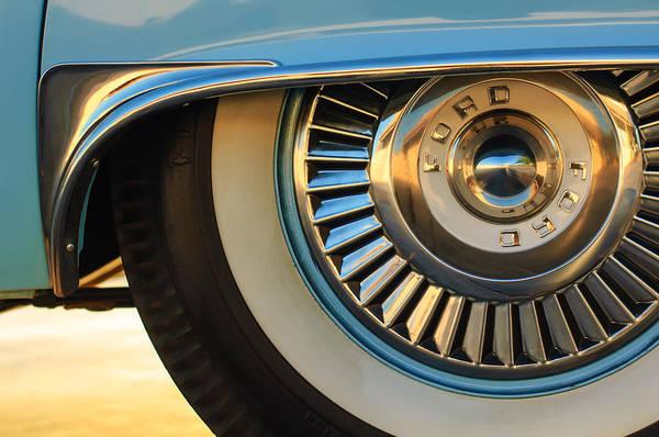 Wall Art - Photograph - 1957 Ford Thunderbird Wheel -031c2 by Jill Reger