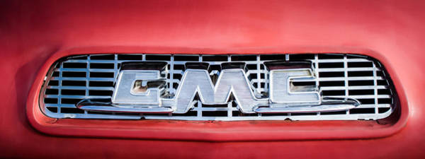 Photograph - 1957 Gmc Pickup Truck Grille Emblem -0329c2 by Jill Reger
