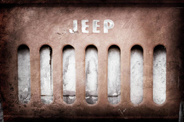 Wall Art - Photograph - 1957 Jeep Emblem -0597ac by Jill Reger