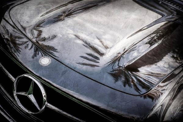 Wall Art - Photograph - 1957 Mercedes-benz 300sl Grille Emblem -0167ac by Jill Reger