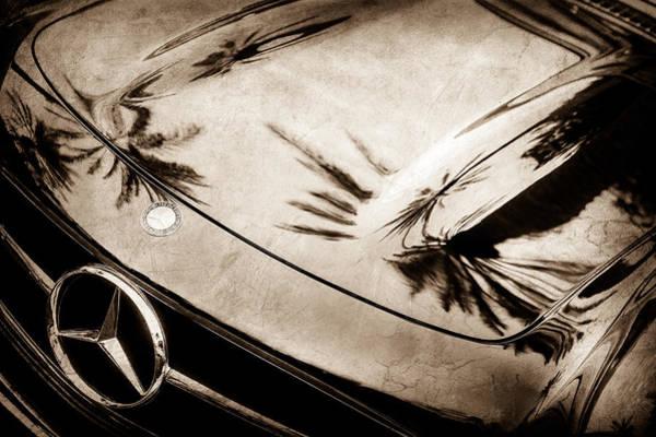 Wall Art - Photograph - 1957 Mercedes-benz 300sl Grille Emblem -0167s by Jill Reger