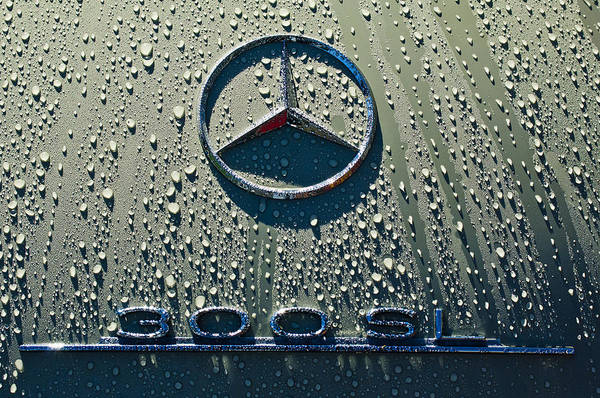 Photograph - 1957 Mercedes Benz 300sl Roadster Emblem by Jill Reger
