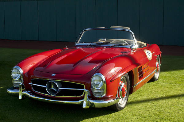 Photograph - 1957 Mercedes Benz 300sl Roadster by Jill Reger
