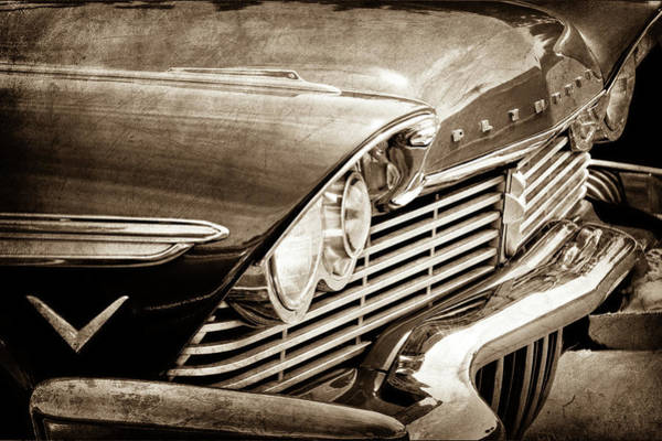 Photograph - 1957 Plymouth Belvedere Grille -0909s by Jill Reger