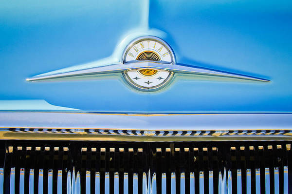 Wall Art - Photograph - 1957 Pontiac Safari Emblem -0737c by Jill Reger