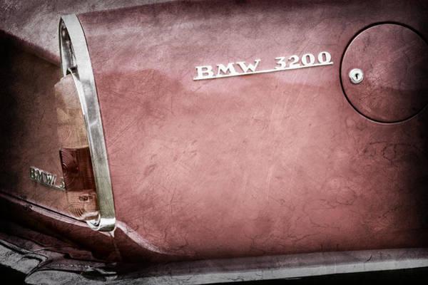 Photograph - 1958 Bmw 3200 Michelotti Vignale Roadster Emblem -2467ac by Jill Reger