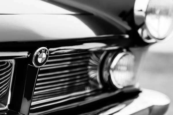 Photograph - 1958 Bmw 3200 Michelotti Vignale Roadster Grille -2380bw by Jill Reger