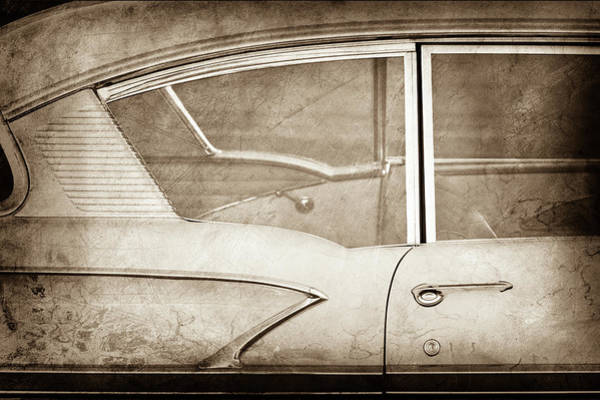 Wall Art - Photograph - 1958 Chevrolet Belair -0829s by Jill Reger
