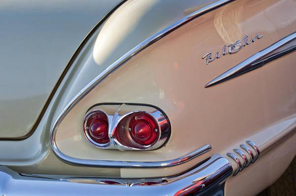 Tail Light Photograph - 1958 Chevrolet Belair Taillight by Jill Reger